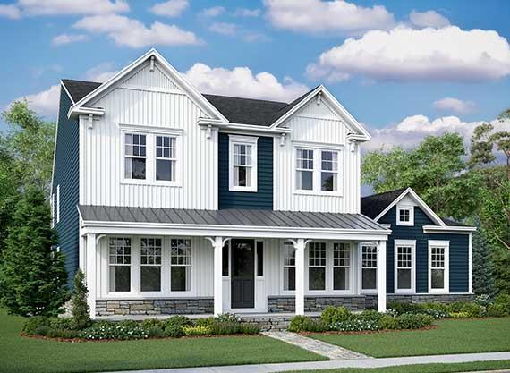 Exterior featured in the Oatland II By Van Metre Homes in Washington, VA