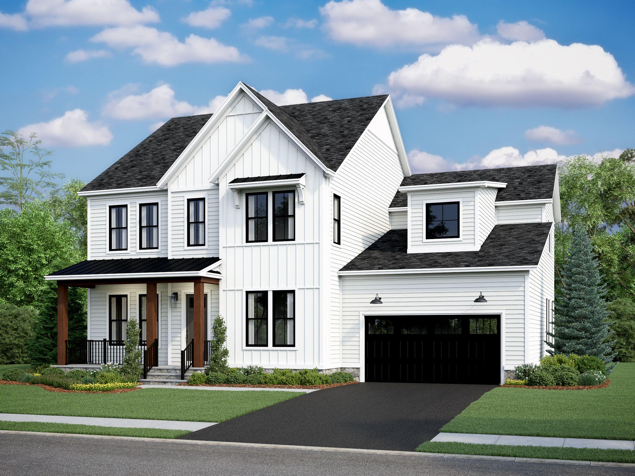 Exterior featured in the Belmont II By Van Metre Homes in Washington, VA