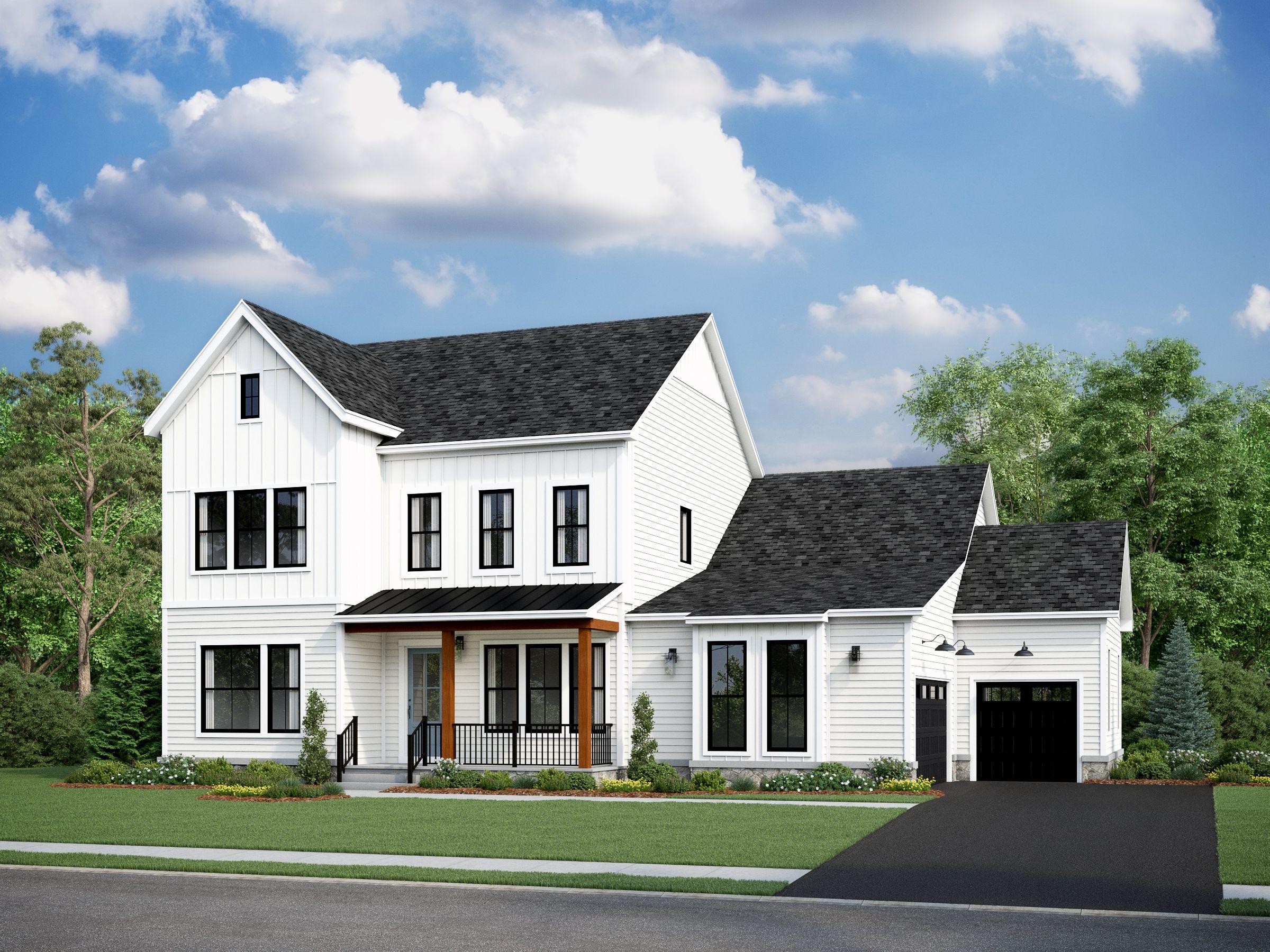 Exterior featured in the Oatland III By Van Metre Homes in Washington, VA