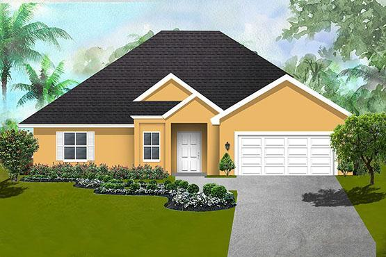 Exterior featured in The Magnolia By Vanacore Homes in Daytona Beach, FL