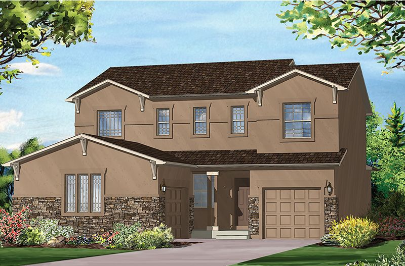Exterior featured in the Carlton II By Vantage Homes in Colorado Springs, CO
