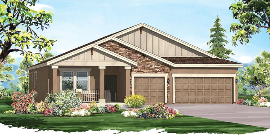 Exterior featured in the Nokota By Vantage Homes in Colorado Springs, CO