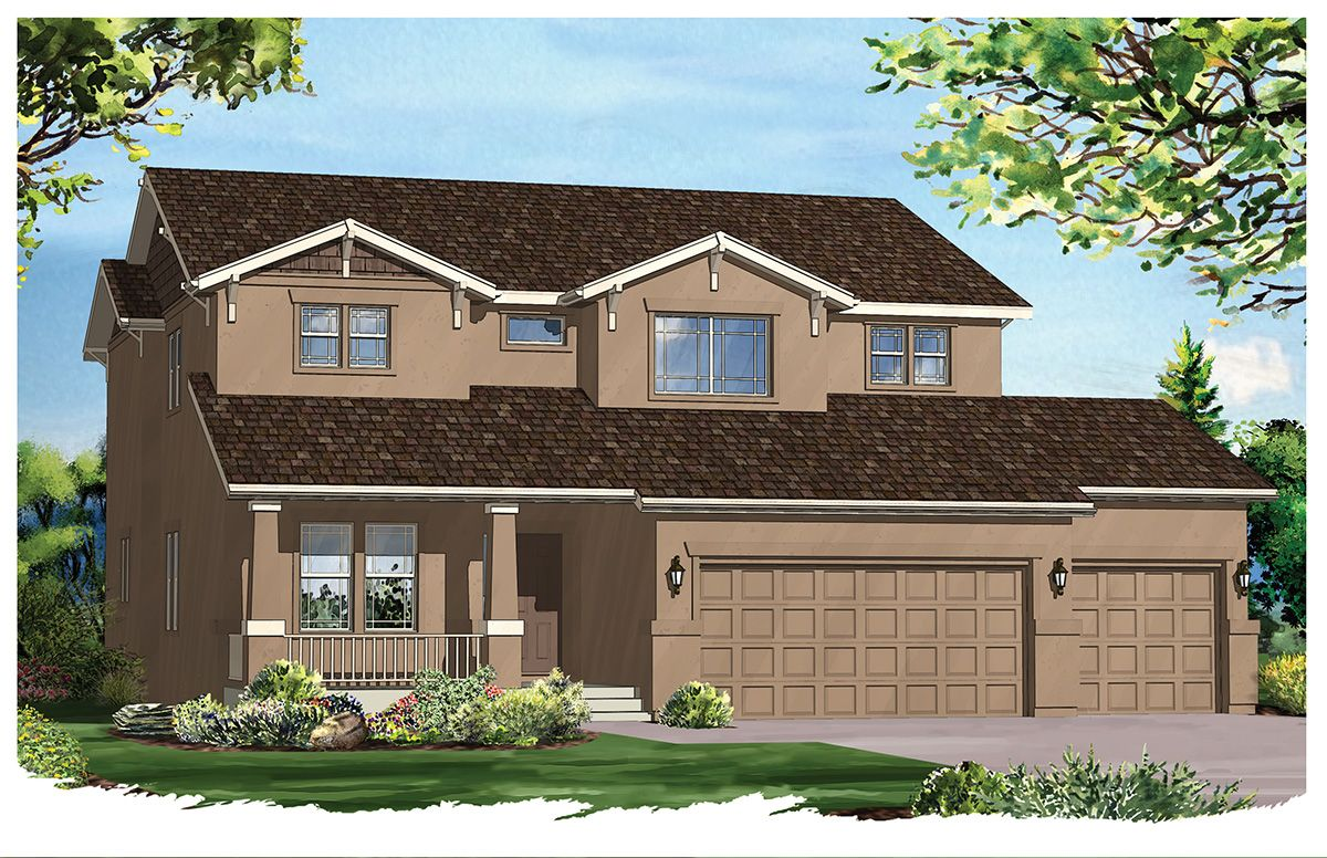 Exterior featured in the Willowwood II By Vantage Homes in Colorado Springs, CO