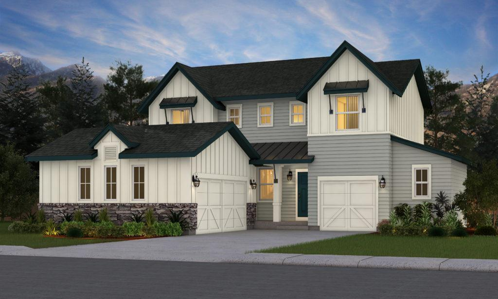 Exterior featured in the Ashwood By Vantage Homes in Colorado Springs, CO