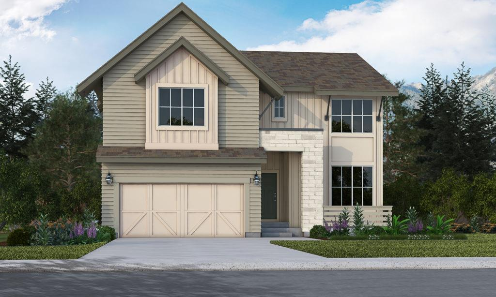 Exterior featured in the Brentwood By Vantage Homes in Colorado Springs, CO
