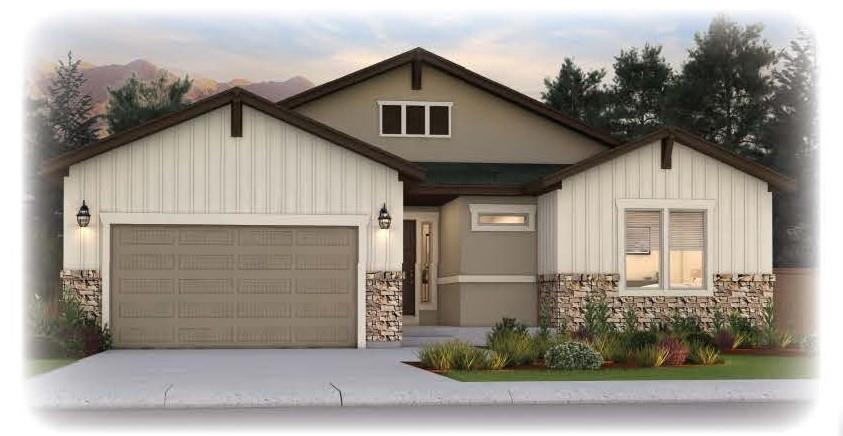 Exterior featured in the Copperwood By Vantage Homes in Colorado Springs, CO