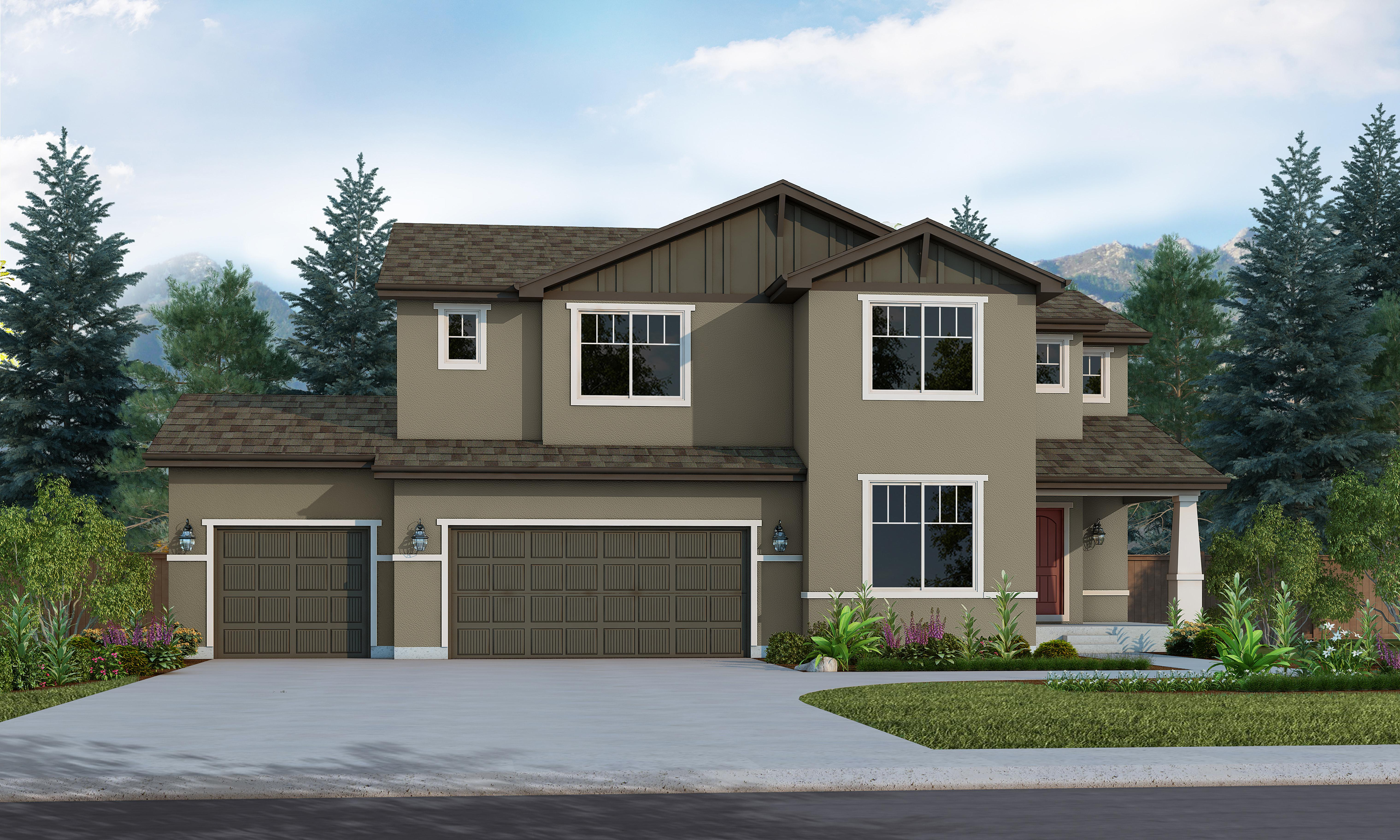 Exterior featured in the Gatewood By Vantage Homes in Colorado Springs, CO