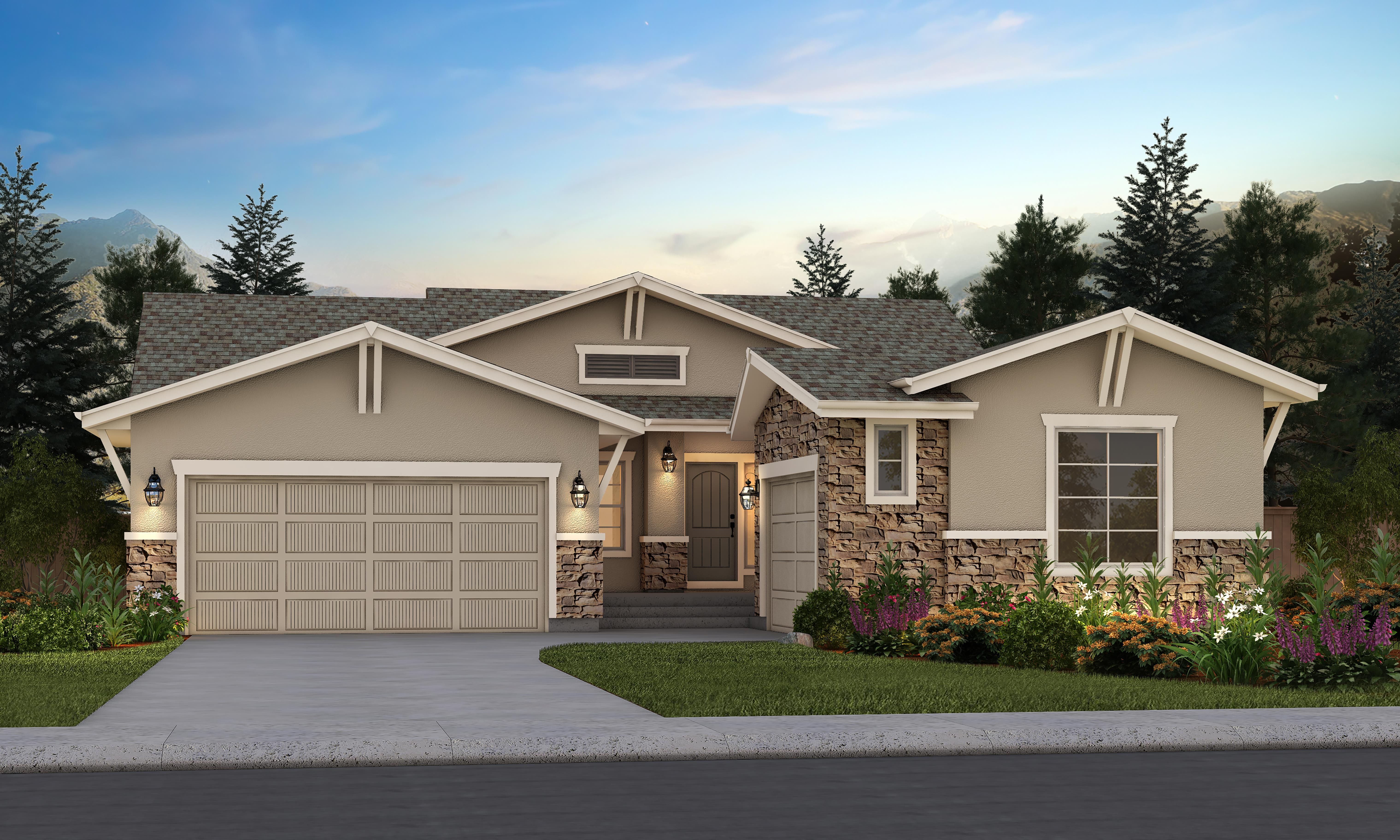 Exterior featured in the Tahoe 260 By Vantage Homes in Colorado Springs, CO