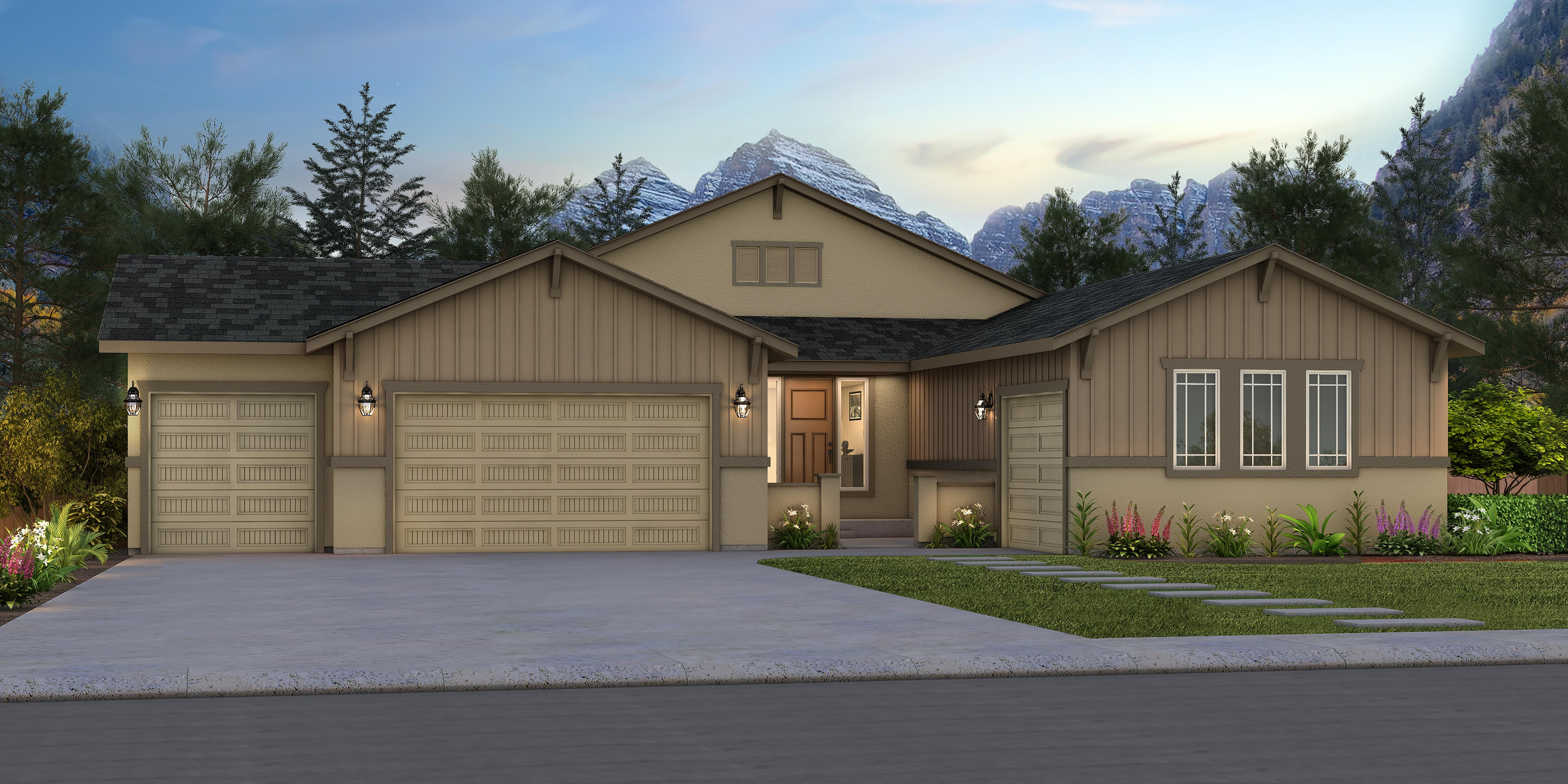 Exterior featured in the Riverwood By Vantage Homes in Colorado Springs, CO