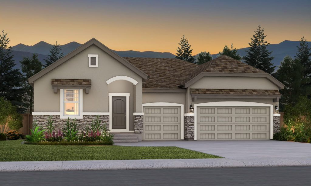 Exterior featured in the Mustang By Vantage Homes in Colorado Springs, CO