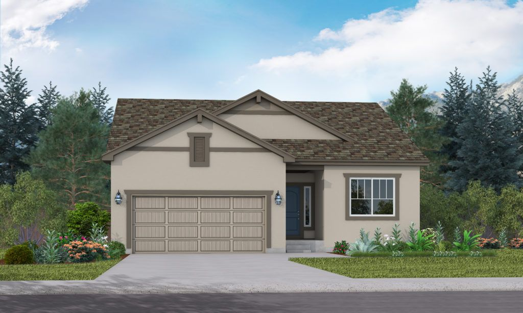 Exterior featured in the Seabrook By Vantage Homes in Colorado Springs, CO