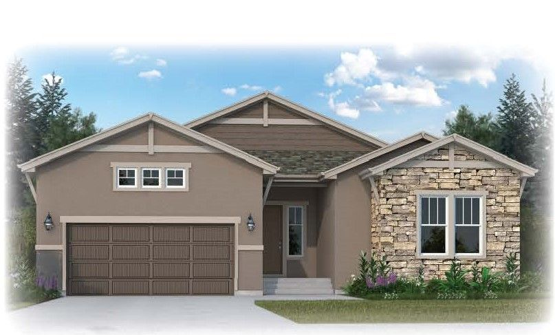 Exterior featured in the Oakridge By Vantage Homes in Colorado Springs, CO