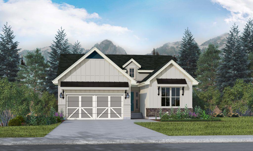 Exterior featured in the Sanibel II By Vantage Homes in Colorado Springs, CO