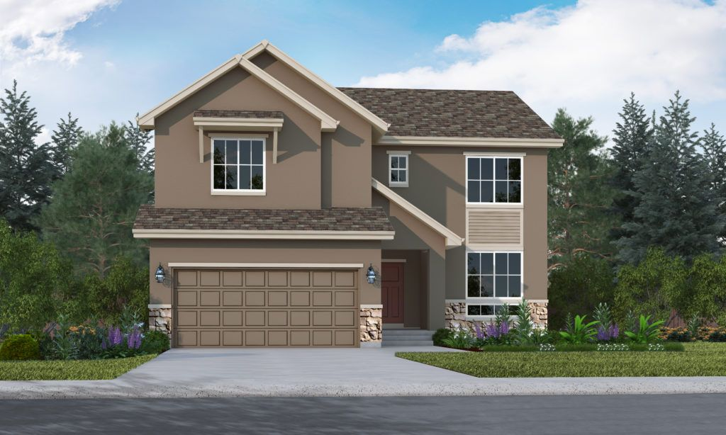 Exterior featured in the Fairhope By Vantage Homes in Colorado Springs, CO