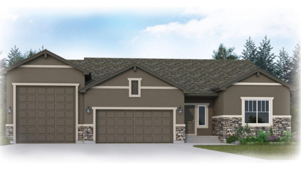 Exterior featured in the Branson By Vantage Homes in Colorado Springs, CO