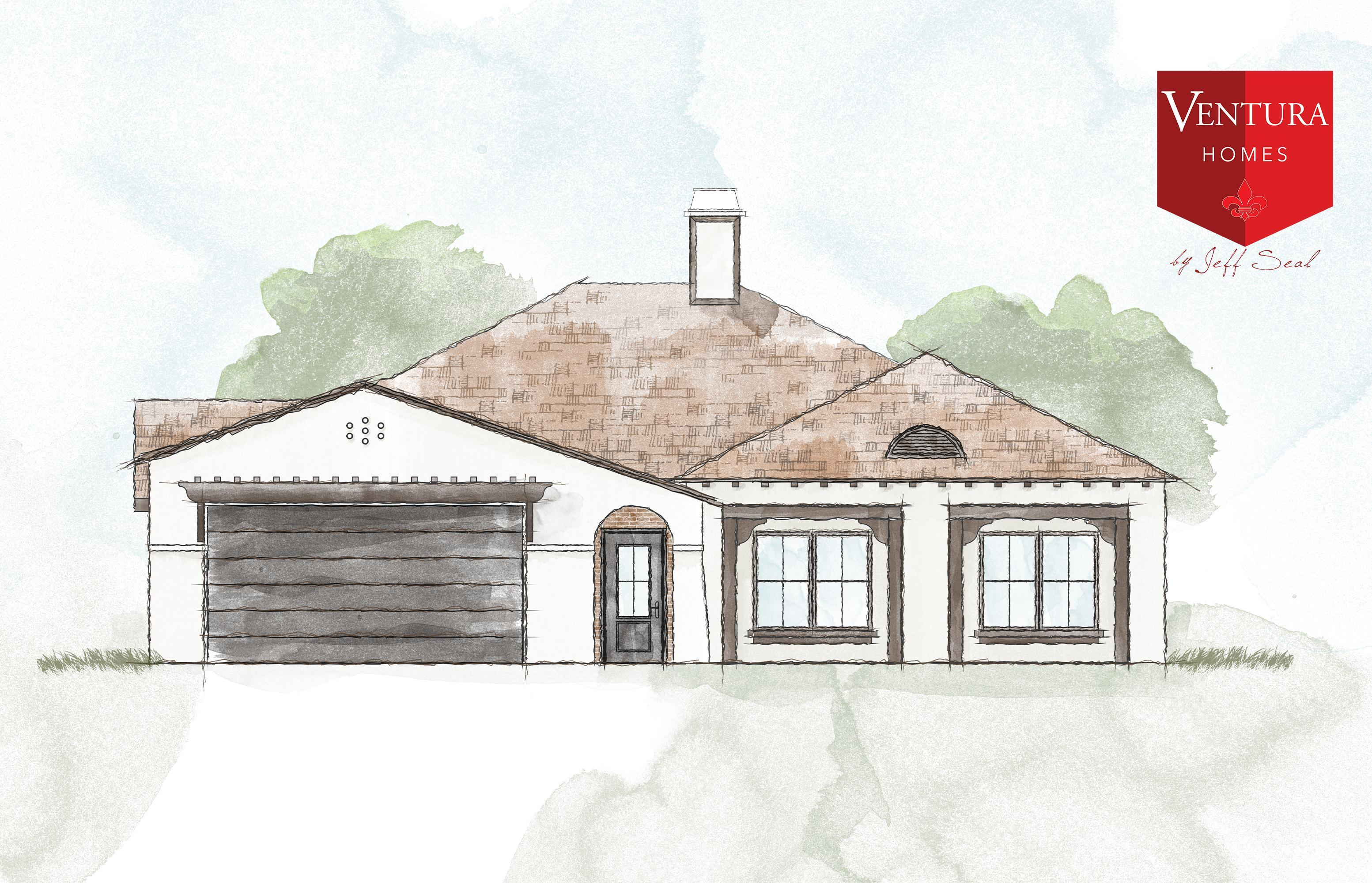 Exterior featured in the 3431 125th St. By Ventura Homes in Lubbock, TX
