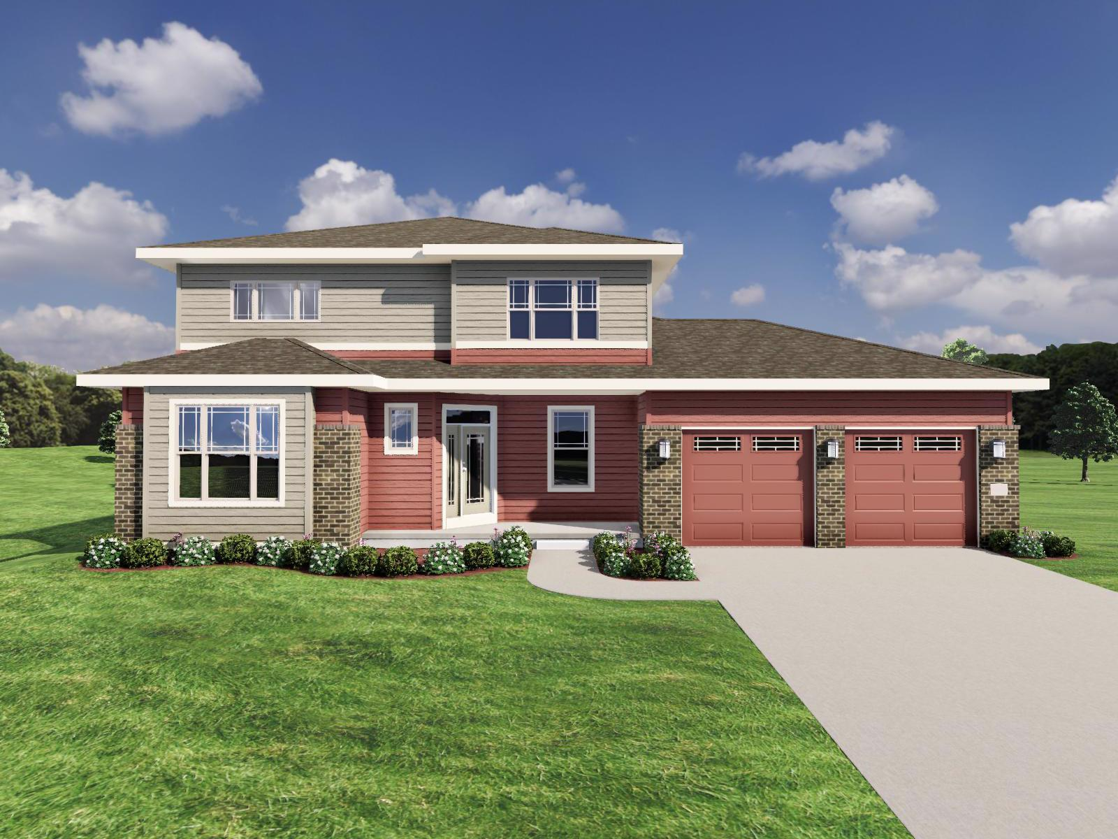 Exterior featured in The Bryant II SS By Veridian Homes in Milwaukee-Waukesha, WI