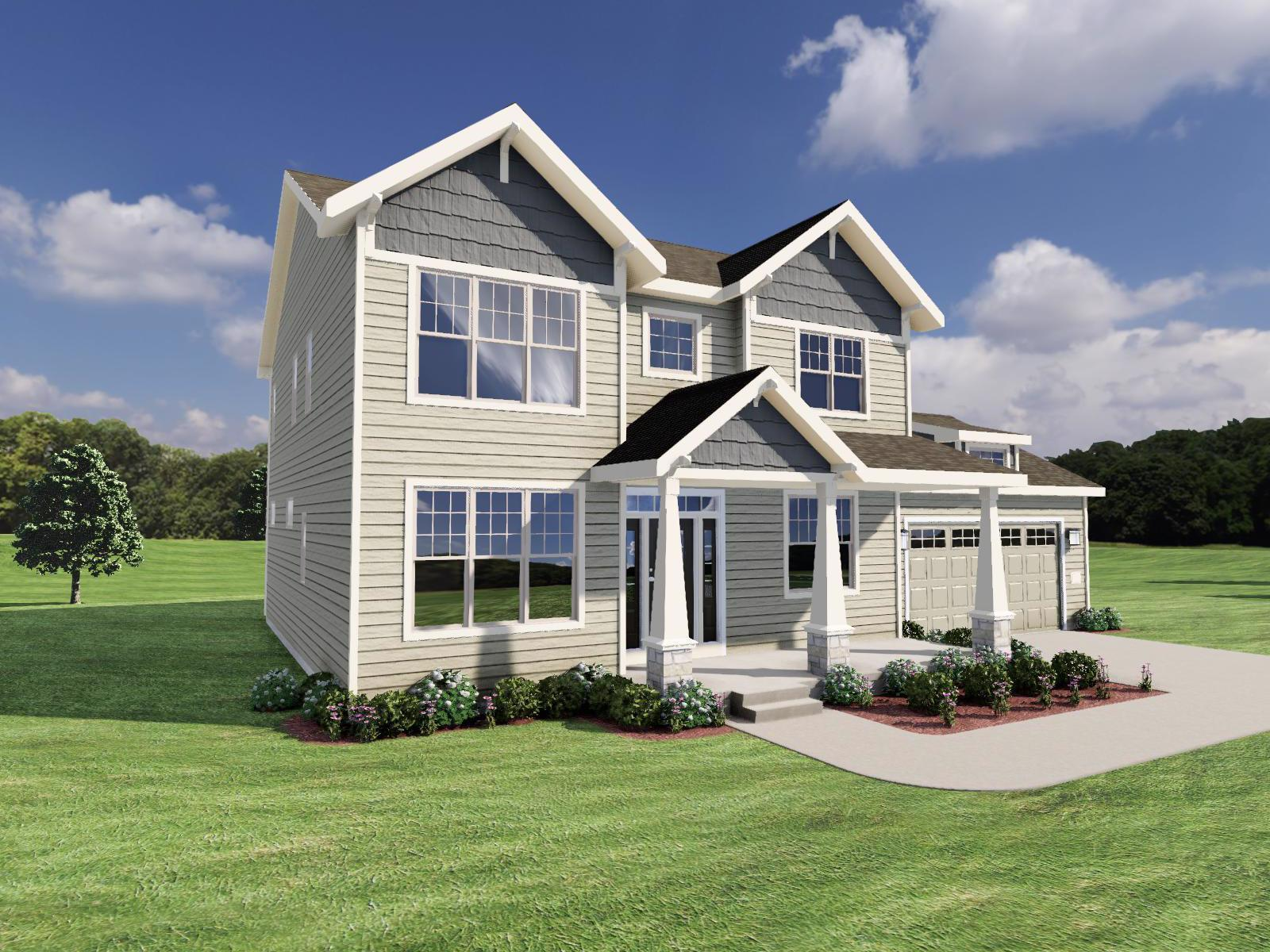Exterior featured in The Margot SS By Veridian Homes in Milwaukee-Waukesha, WI