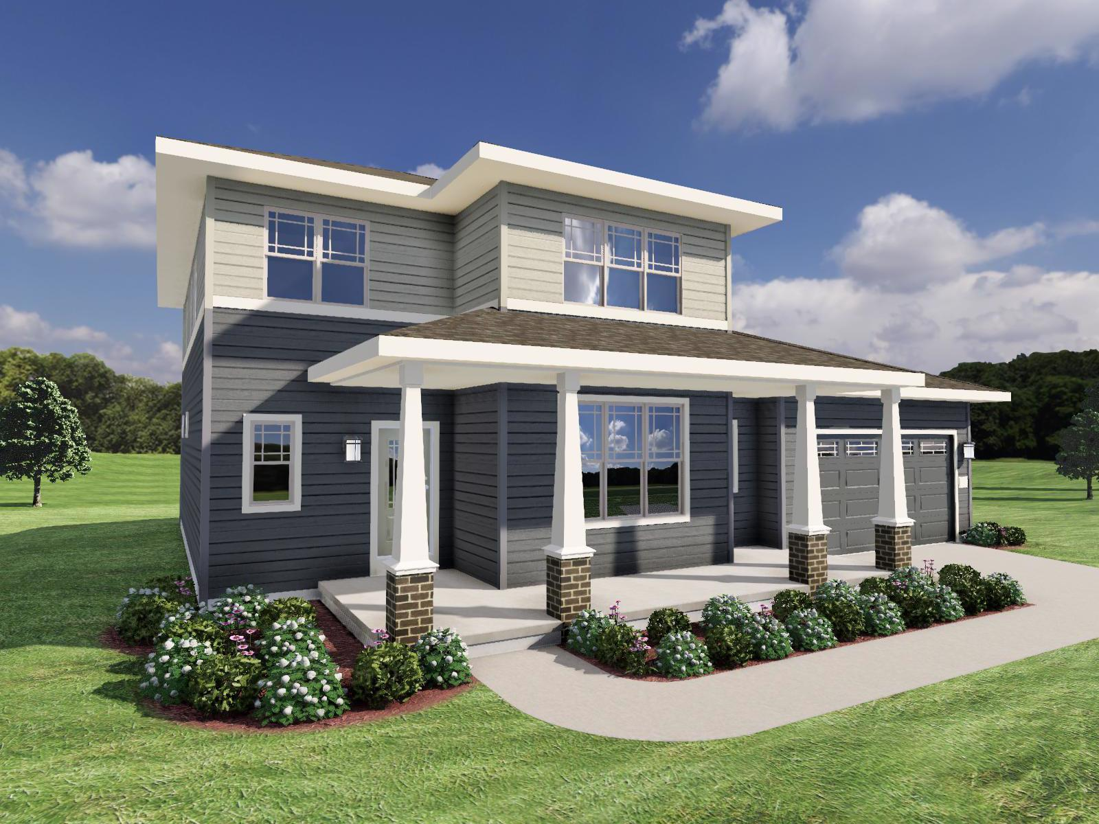 Exterior featured in The Carmichael SS By Veridian Homes in Ozaukee-Sheboygan, WI