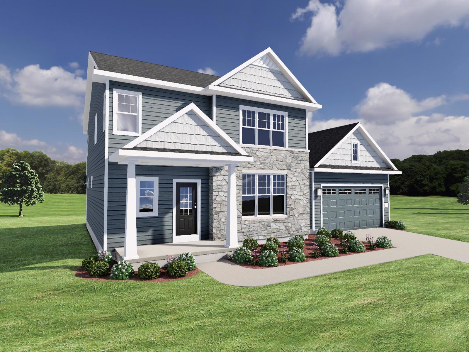 Exterior featured in The Hudson SS By Veridian Homes in Milwaukee-Waukesha, WI