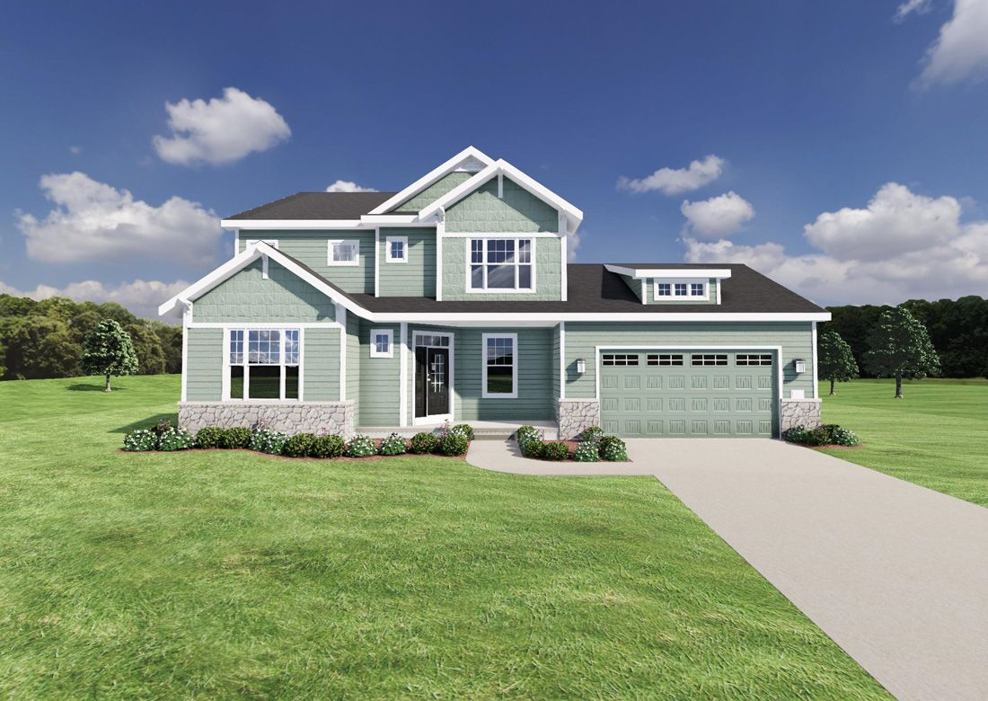 Exterior featured in The Bryant I SS By Veridian Homes in Milwaukee-Waukesha, WI