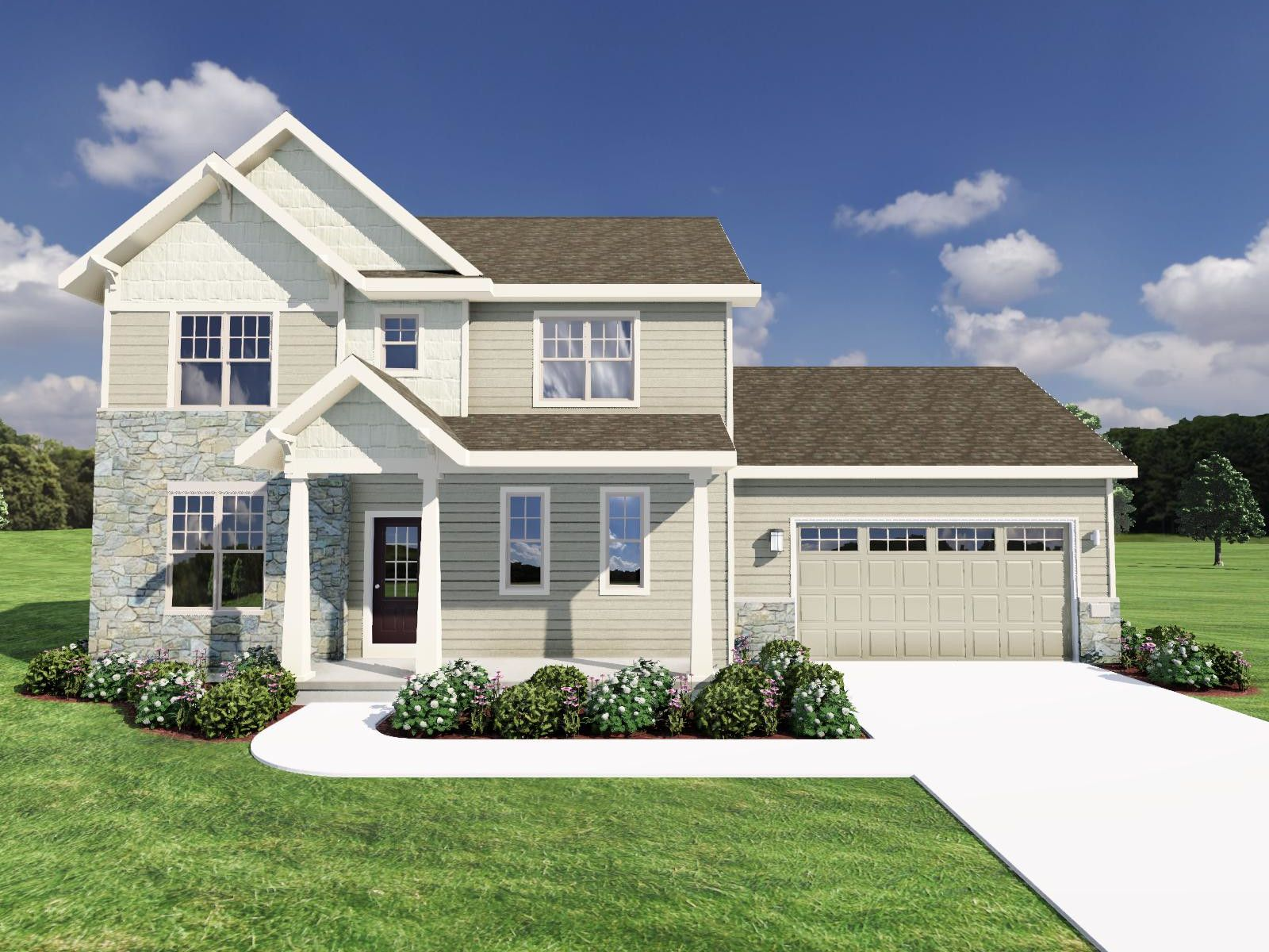 Exterior featured in The Hoffman SS By Veridian Homes in Milwaukee-Waukesha, WI