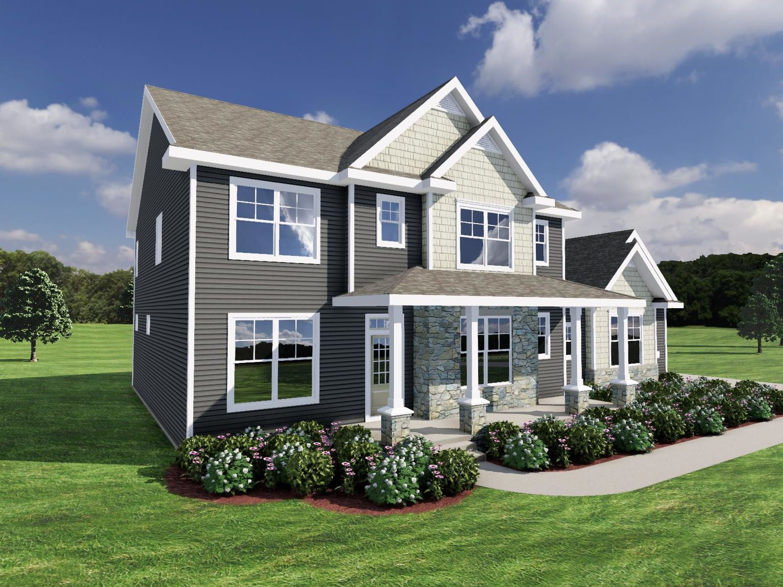 Exterior featured in The Jackson SS By Veridian Homes in Milwaukee-Waukesha, WI