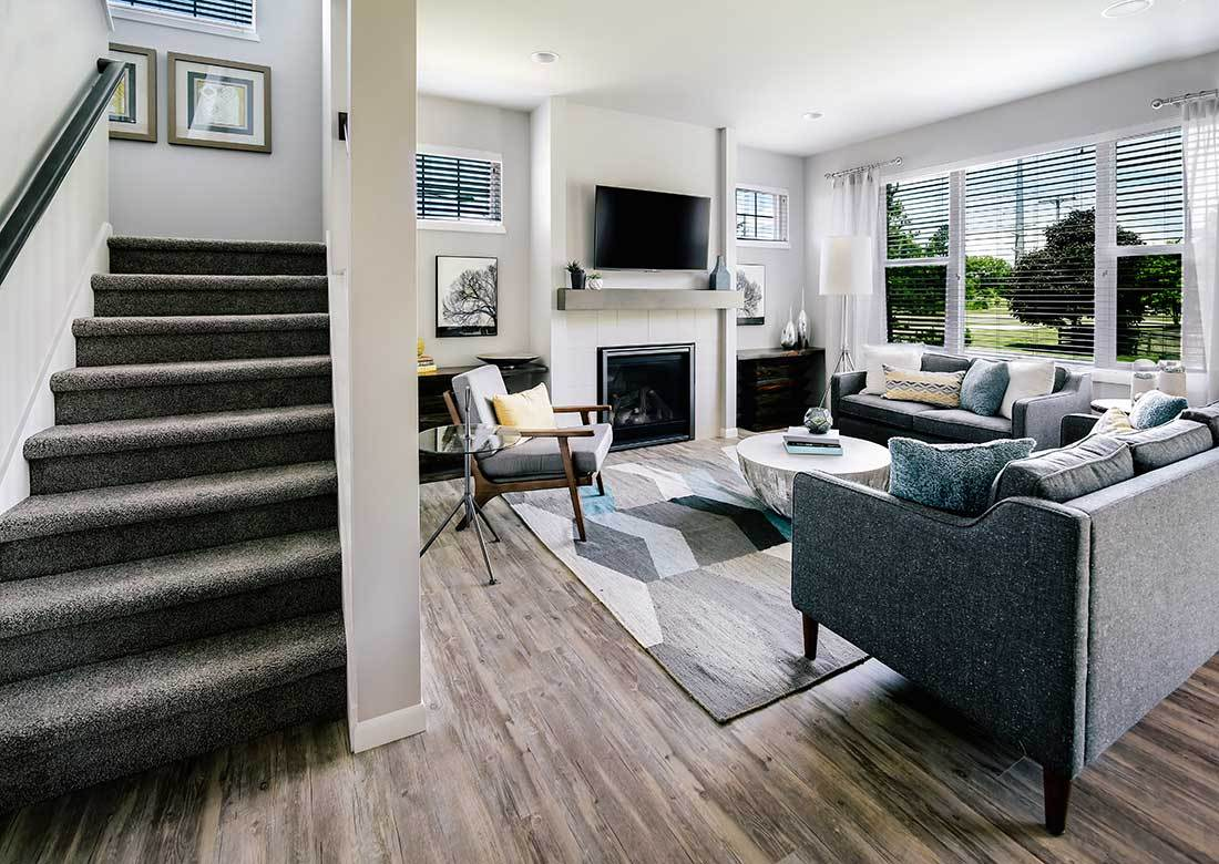 Living Area featured in The Sawyer By Veridian Homes in Madison, WI