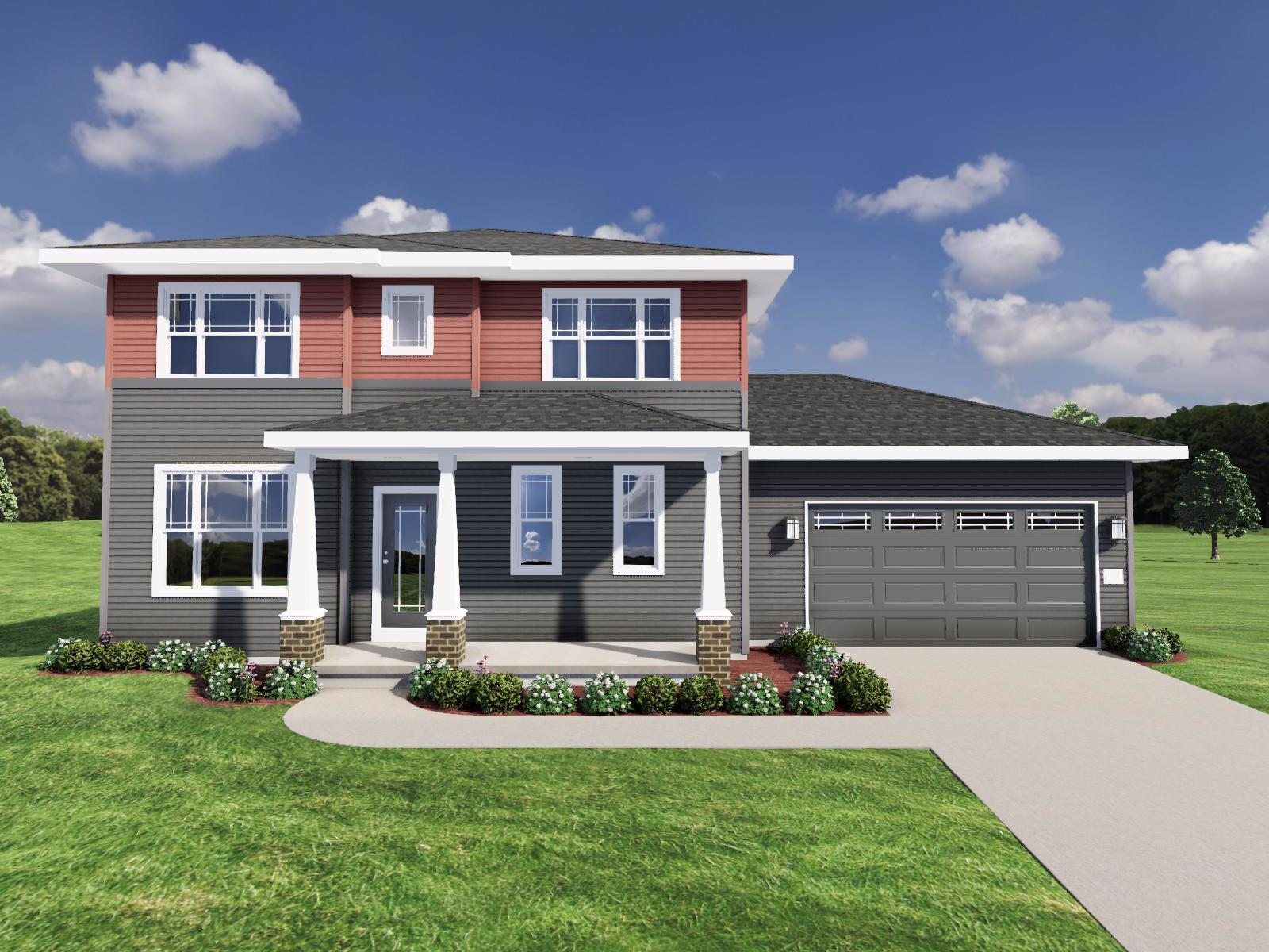 Exterior featured in The Hoffman By Veridian Homes in Madison, WI