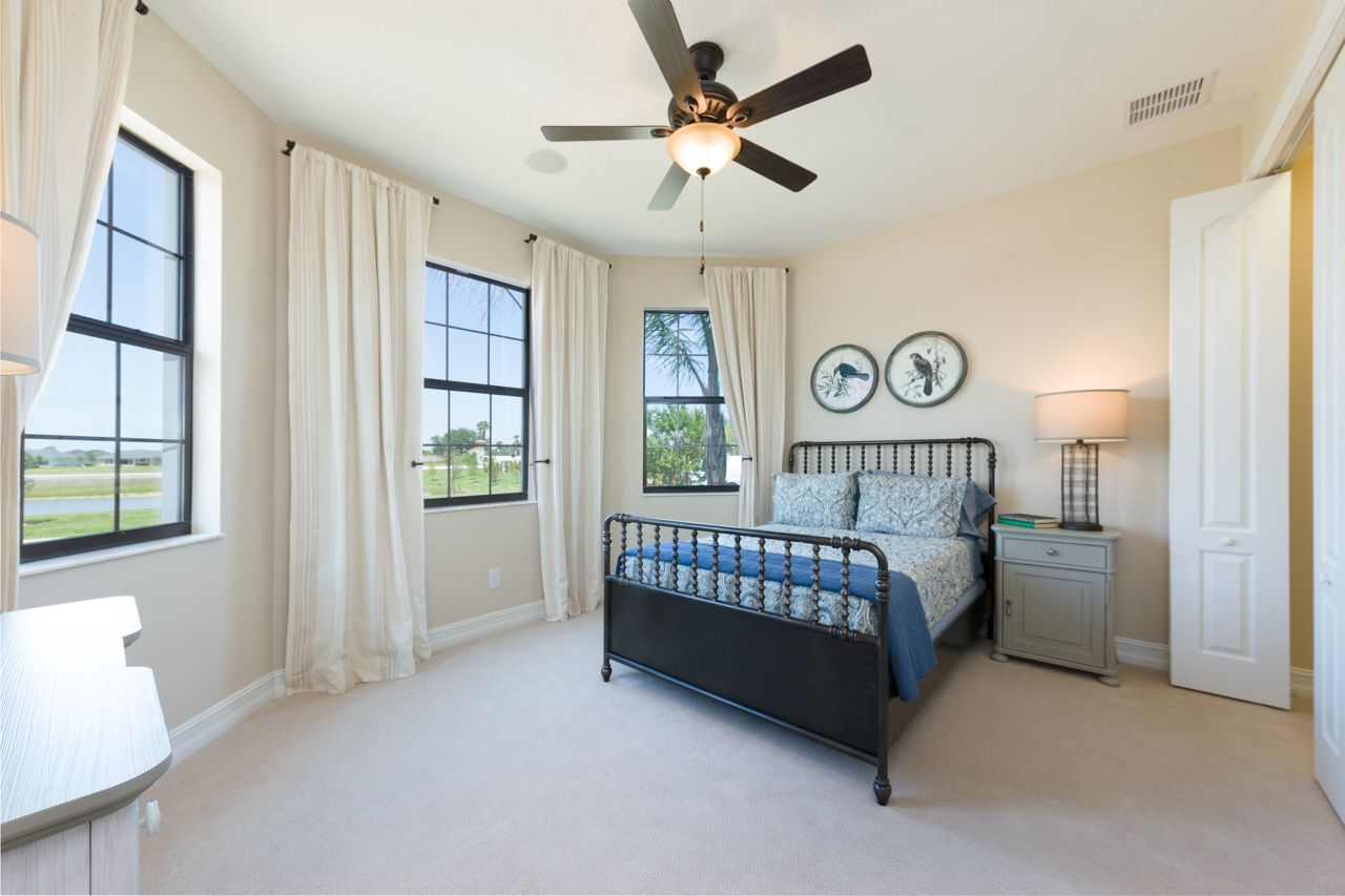 Bedroom featured in the Sawyer By Viera Builders  in Melbourne, FL