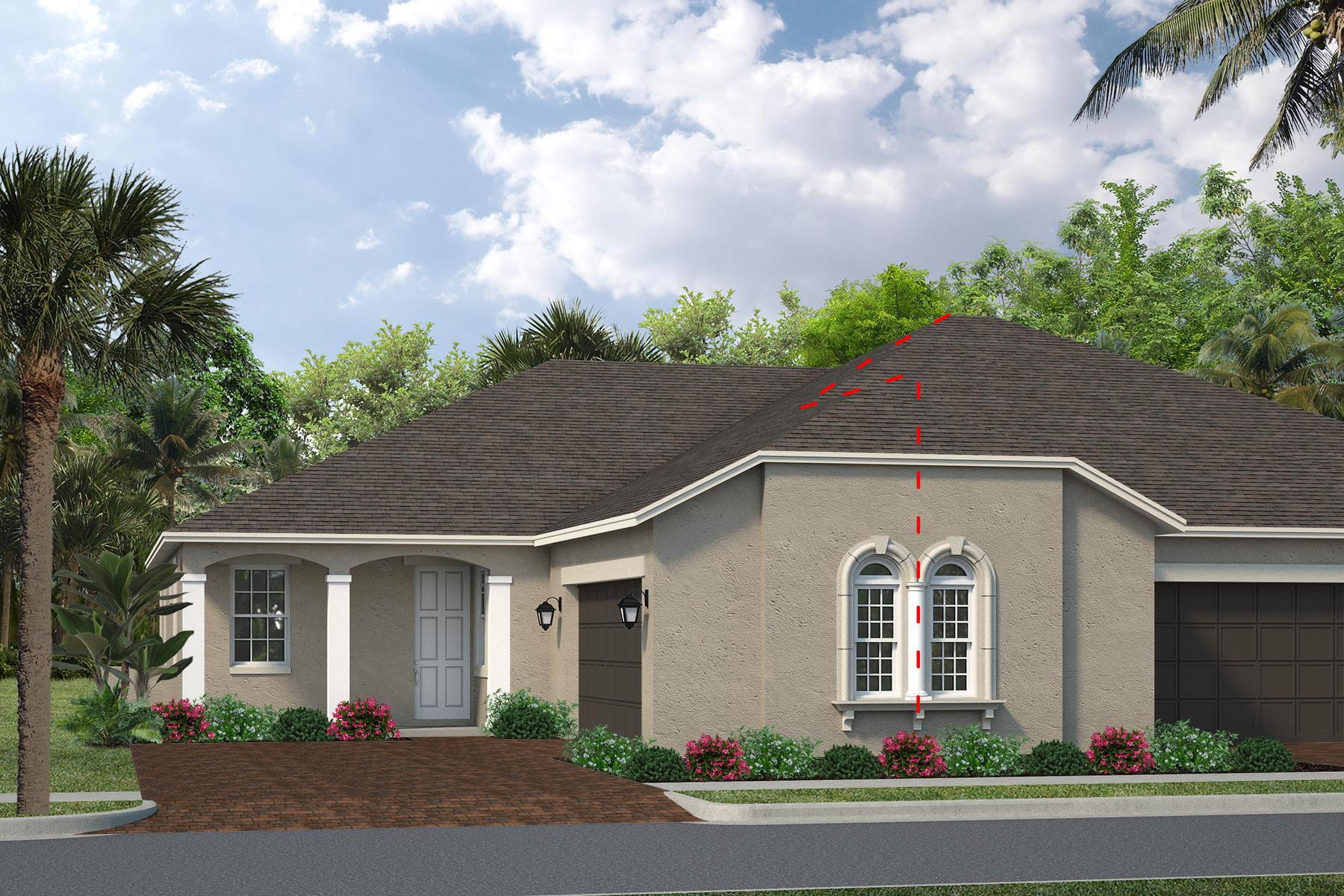 Exterior featured in the Coronado By Viera Builders  in Melbourne, FL