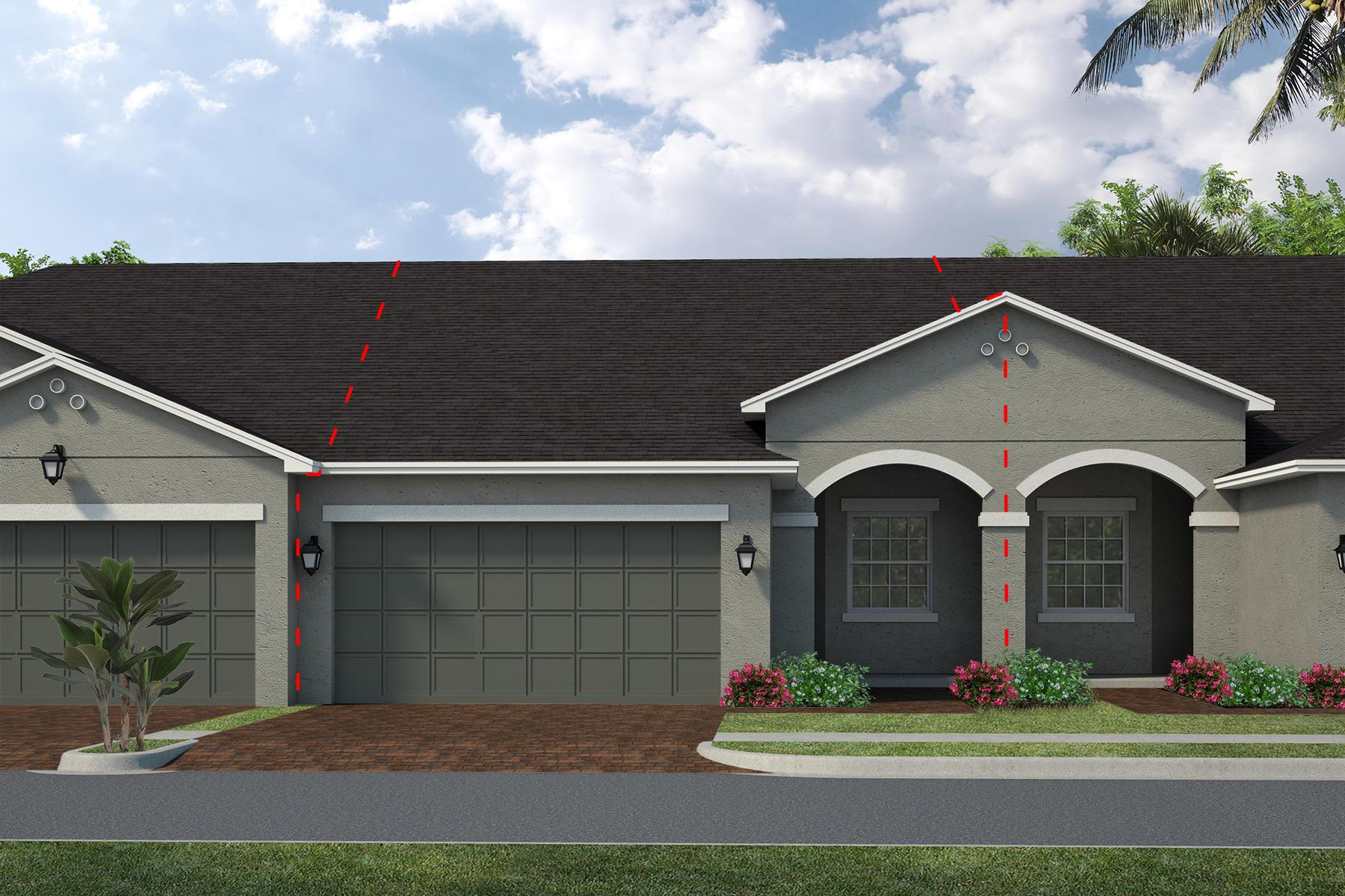 Exterior featured in the Lindsey By Viera Builders  in Melbourne, FL