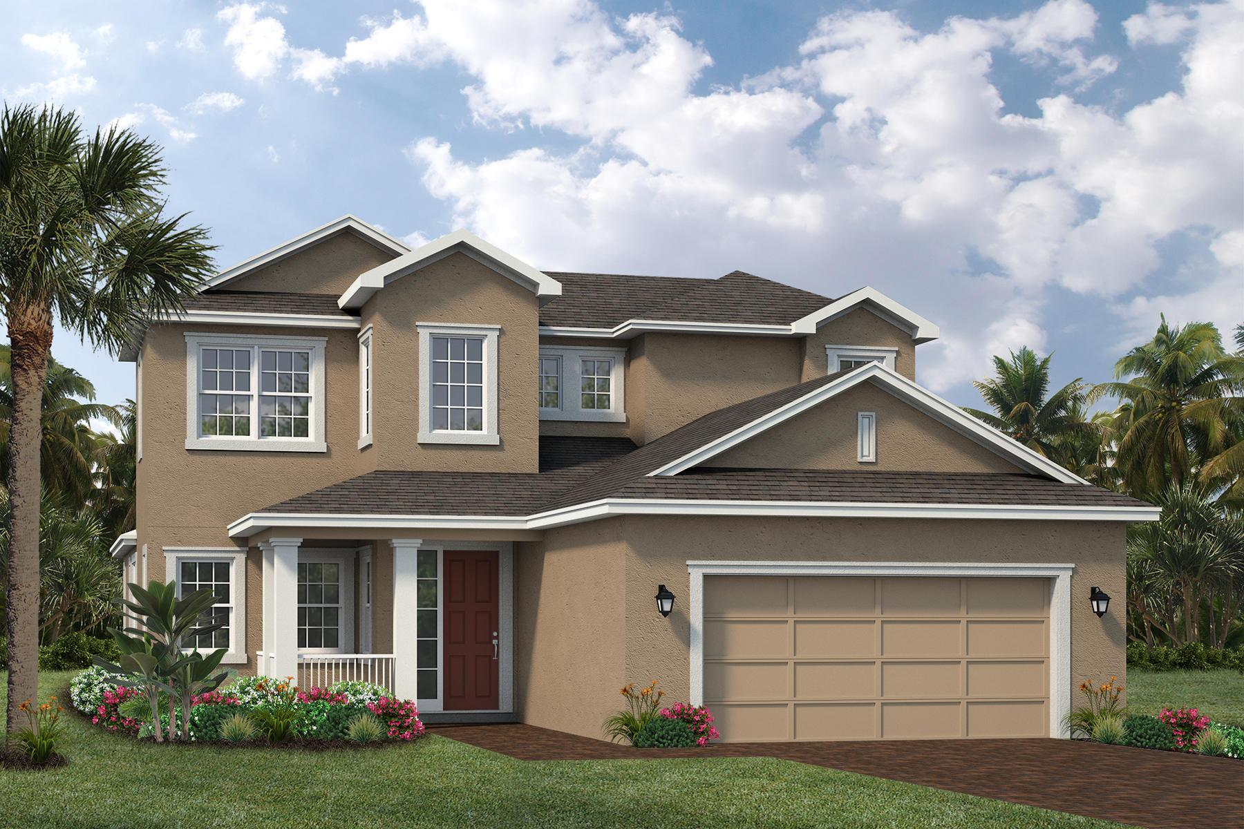 Exterior featured in The Hawthorn By Viera Builders  in Melbourne, FL