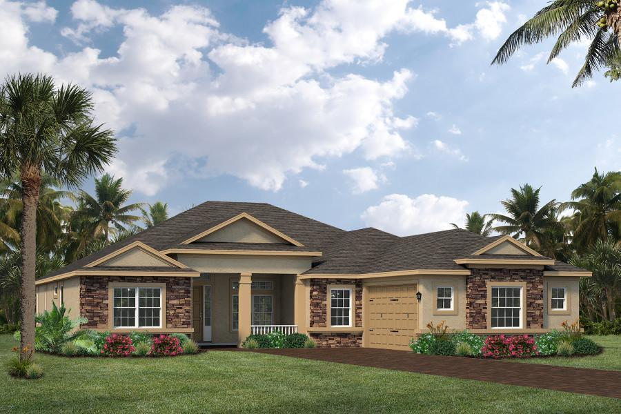 Exterior featured in the Montgomery By Viera Builders  in Melbourne, FL