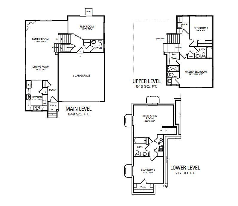 Casitas Tri Level Plan At Creekside At Lorson Ranch In Colorado Springs Co By View Homes Colorado Springs