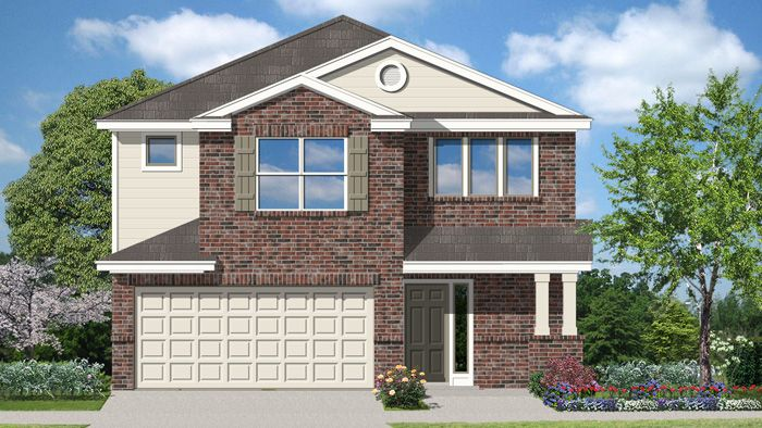 Exterior featured in the Adams II By Laredo - Armadillo Homes in Laredo, TX