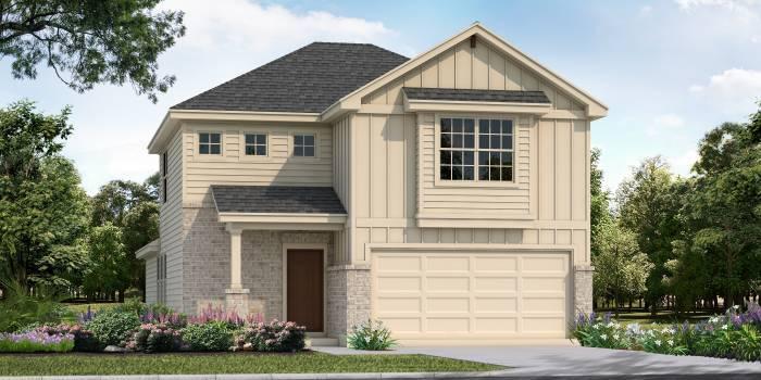 Exterior featured in the Madison By San Antonio - Armadillo Homes in San Antonio, TX