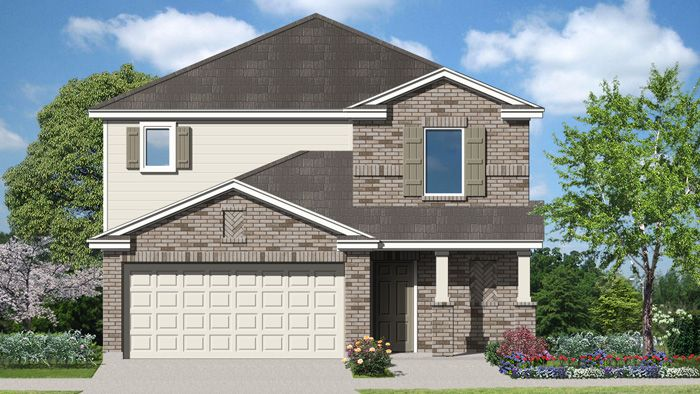 Exterior featured in the Johnson By Laredo - Armadillo Homes in Laredo, TX