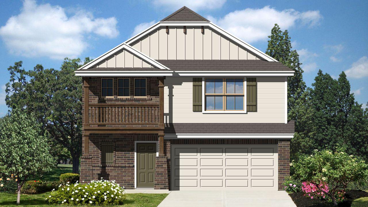 Exterior featured in the Johnson II By Laredo - Armadillo Homes in Laredo, TX