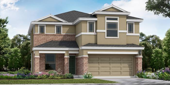 Exterior featured in the Milam By Laredo - Armadillo Homes in Laredo, TX