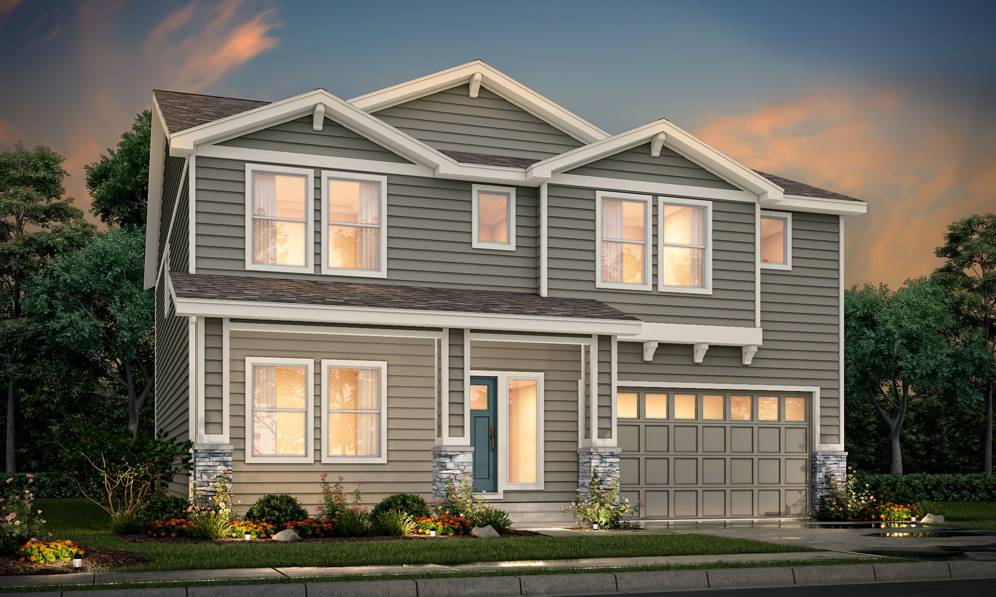 Exterior featured in the Nantucket at Sorrento By View Homes Northern Colorado in Greeley, CO