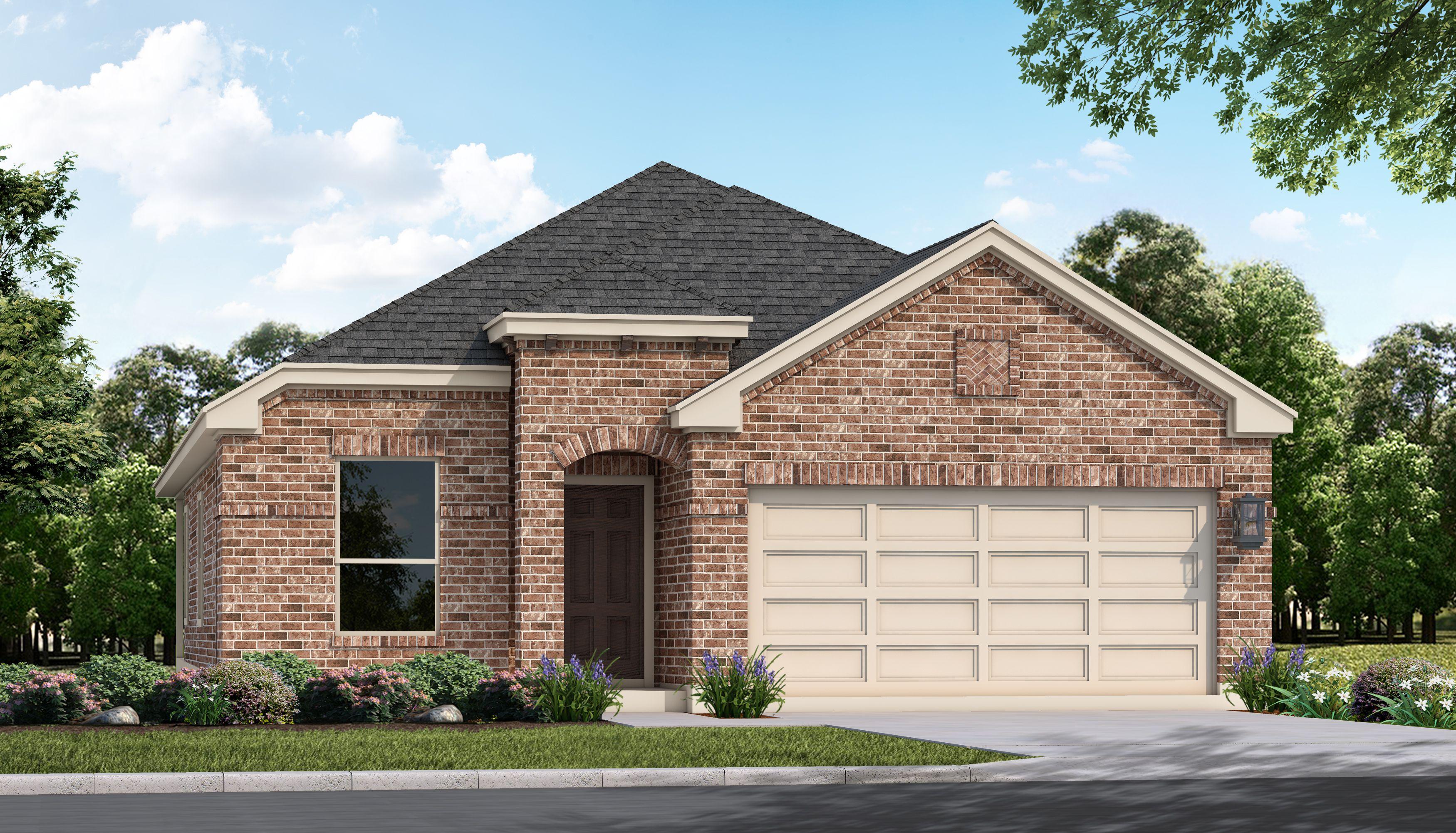 Exterior featured in the Robertson By San Antonio - Armadillo Homes in San Antonio, TX