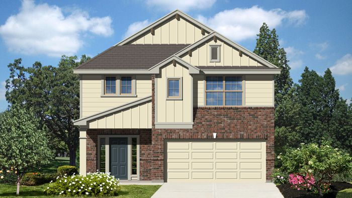 Exterior featured in the Roosevelt II By Laredo - Armadillo Homes in Laredo, TX