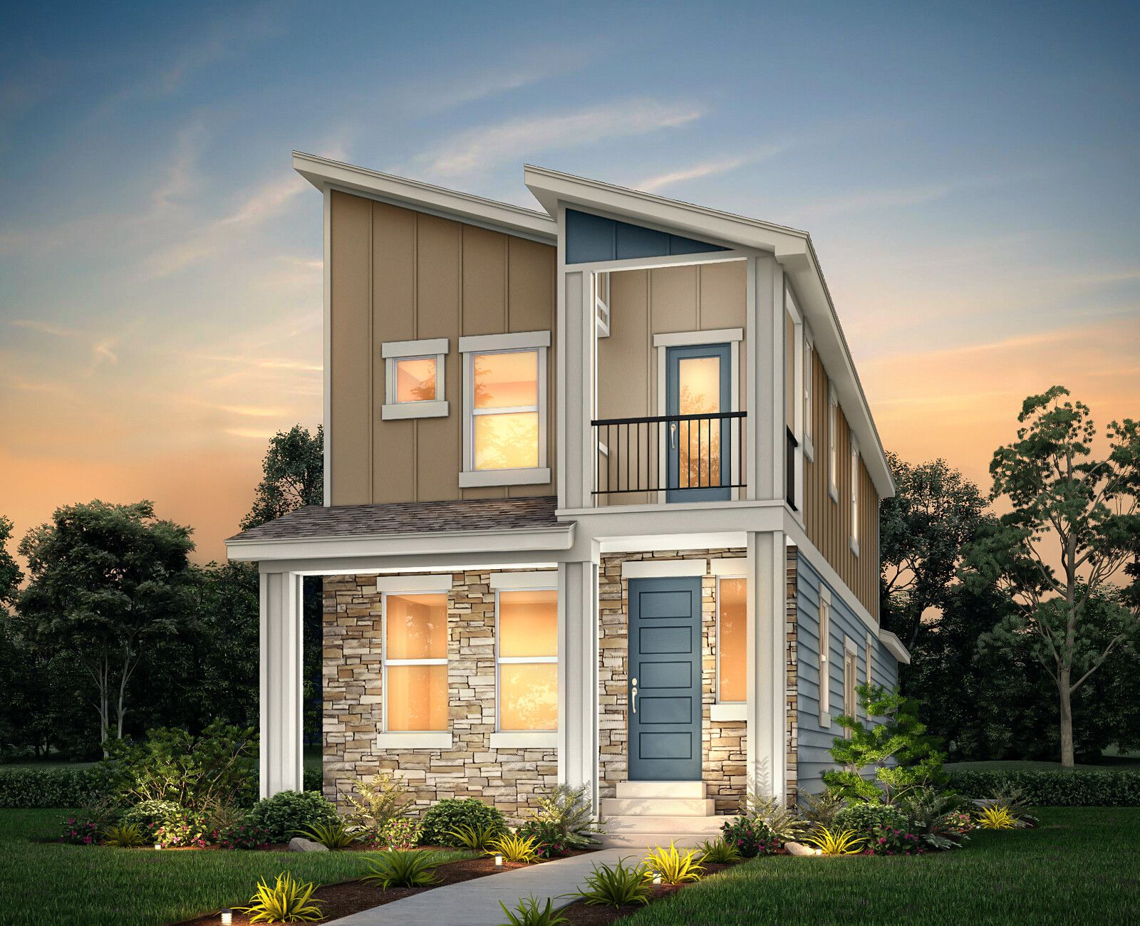 Exterior featured in the High Plains By View Homes Colorado Springs in Colorado Springs, CO