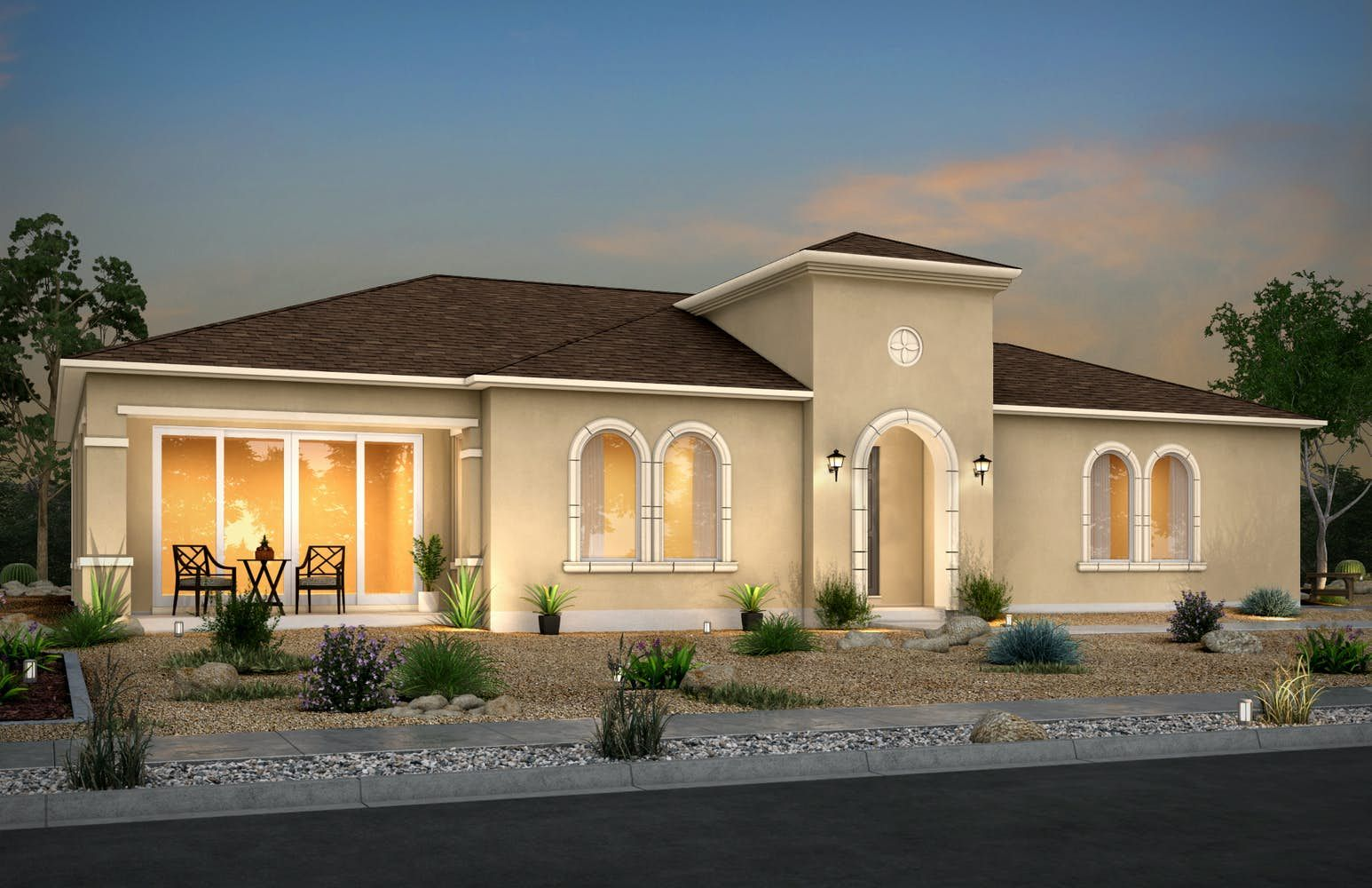 Exterior featured in the Cozumel - Side Garage By View Homes El Paso in El Paso, TX