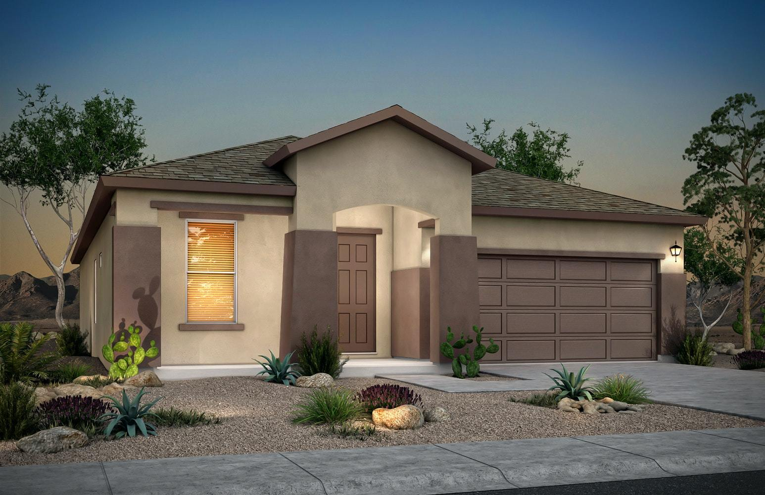 Exterior featured in the Scottsdale By Desert View Homes in Las Cruces, NM