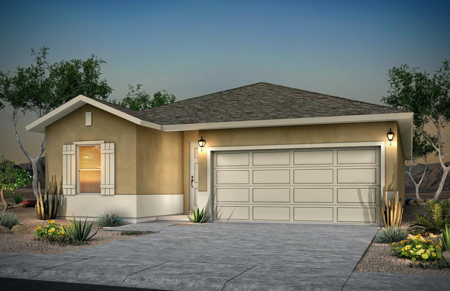 Exterior featured in the Veronica By Desert View Homes in Las Cruces, NM