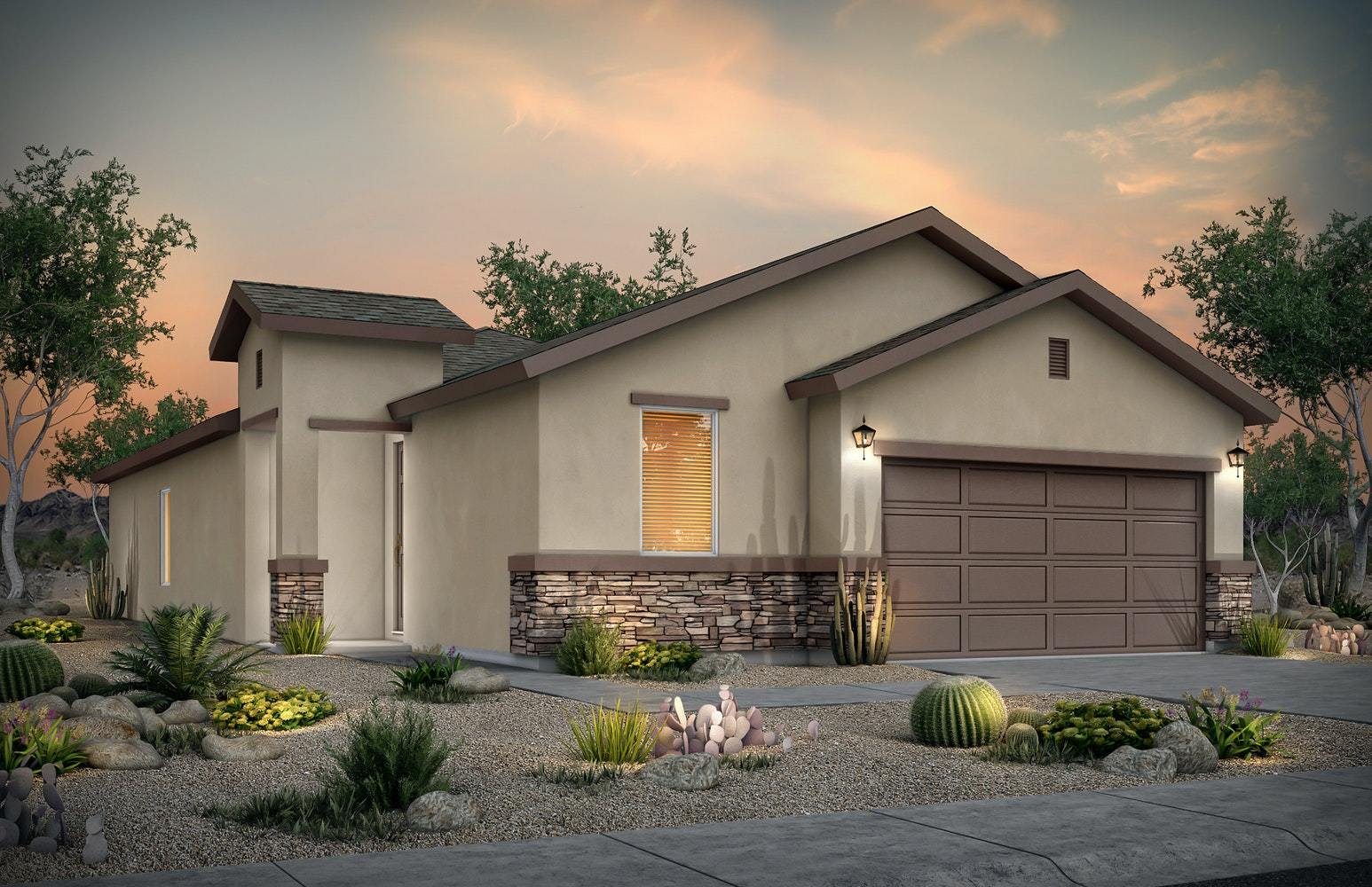 Exterior featured in the Ashley By Desert View Homes in Las Cruces, NM