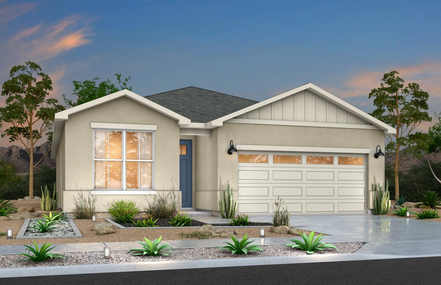 Exterior featured in the Prickly Pear By Desert View Homes in El Paso, TX