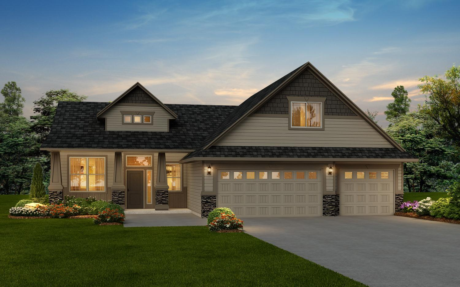 Exterior featured in The Homestead Bonus By RYN Built Homes in Richland, WA